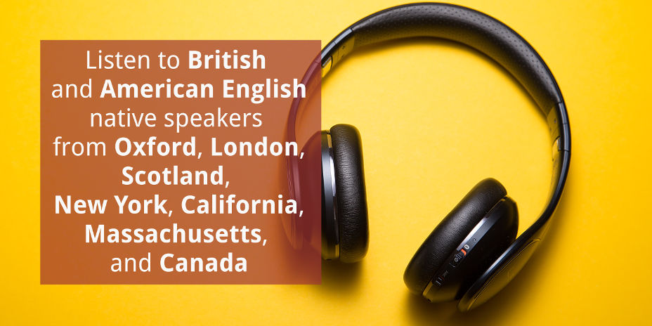 English-learning and pronunciation courses with audio